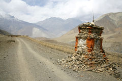 Tibetan shrine on annapurna circuit Royalty Free Stock Images