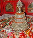 Tibetan Silver Mandala Set, Gyuto Monastery, Dharamshala Stock Images