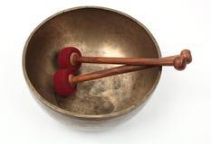 Tibetan singing bowl Stock Photos