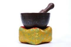 Tibetan Singing Bowl. On its cushion/pillow Stock Photos