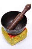 Tibetan Singing Bowl. On its cushion/pillow Royalty Free Stock Image