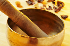 Tibetan singing bowl Stock Images
