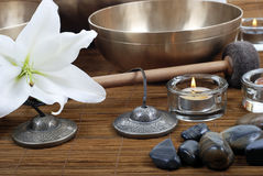 Tibetan singing bowls Royalty Free Stock Photo