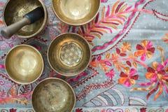 Free Tibetan Singing Bowls For Meditation Stock Photos - 175736323