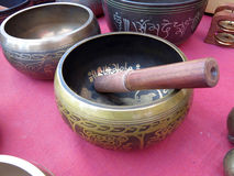 Tibetan singing bowls Royalty Free Stock Images