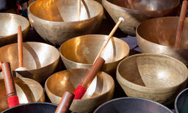 Tibetan Singing Bowls Stock Photography