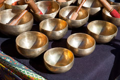 Tibetan Singing Bowls Stock Images