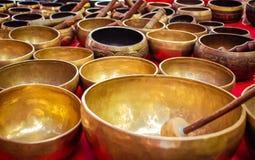 Tibetan singing bowls Royalty Free Stock Photography