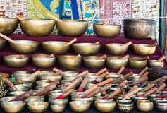 Tibetan singing bowls Stock Image