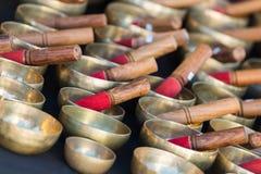 Tibetan singing bowls Stock Images
