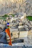 These Tibetan slums. Amazing architecture of the Buddhist monasteries in Tibet mountain Royalty Free Stock Photo