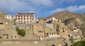 These Tibetan slums. In the Tibet mountains Royalty Free Stock Image