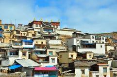 Tibetan Stad Royalty-vrije Stock Foto
