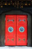 Tibetan stijldeur royalty-vrije stock foto