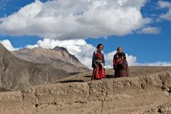 Tibetan students Stock Images