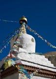 Tibetan stupa. Buddhist stupa in Tibet, Himalayas Royalty Free Stock Photography