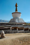 Tibetan stupa. Stupa in one of the most important Tibetan Buddhist monasteries - Tashilhunpo, Shigatse, Tibet Stock Photo