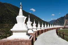 tibetan stupa Arkivfoto