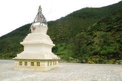 Tibetan stupa. The white Tibetan stupa,china Royalty Free Stock Photos