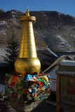 Tibetan stupa in China Stock Photography