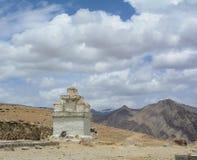 A Tibetan stupa on the mountain in Leh, India Royalty Free Stock Photos