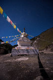 Tibetan stupa. Tibetan pagoda under the stars Stock Images