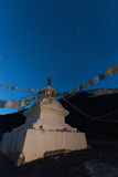 Tibetan stupa. Tibetan pagoda under the stars Stock Photos