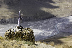 Tibetan Stupa and Spiti River Stock Photo