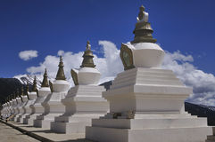 Tibetan Stupas Stock Photo