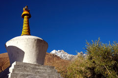Tibetan stupas in Ladakh Royalty Free Stock Images
