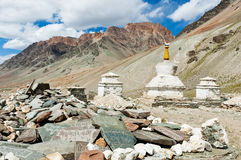 Tibetan stupas and mani stones Stock Photography