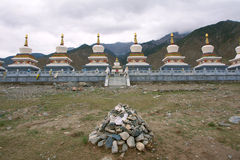 Tibetan stupas Stock Images