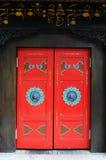 Tibetan style door. A tibetan style door in Lhasa,tibet royalty free stock photo