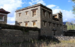 Tibetan style dwelling houses Stock Photo