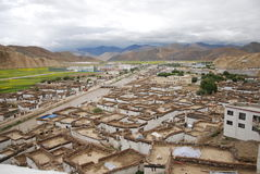 Tibetan style houses. A small town of Tibet Tibetan style houses Stock Photography