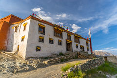 Tibetan style monastery in Rangdum village, Zanskar valley, Jammu Kashmir, India. Asia stock photography
