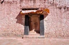 Tibetan style old door Royalty Free Stock Image
