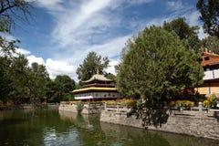 Tibetan style pavilion Stock Image