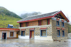 Tibetan-style Residence Stock Image
