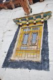 Tibetan style window. View of a Tibetan style window in Shangri-La, China Royalty Free Stock Photos