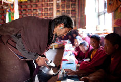 Tibetan tea ceremony, Nepal Royalty Free Stock Image