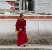 Tibetan teenage novice monk at monastery Royalty Free Stock Photography