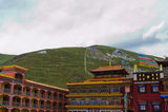 Tibetan tempel Royaltyfri Fotografi