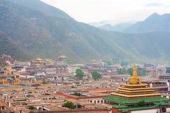 Tibetan tempel för Labrang lamasery arkivbild