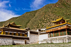 Tibetan tempel, Labrang Lamasery Royaltyfri Fotografi