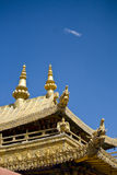 Tibetan temple. Detail of tibetan temple roof Royalty Free Stock Photography