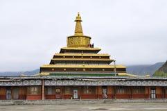 Tibetan temple. Labrang Tibetan Buddhist Monastery in Xiahe Royalty Free Stock Photo