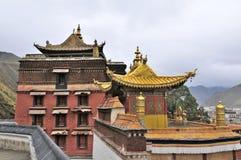 Tibetan temple. Labrang Tibetan Buddhist Monastery in Xiahe Stock Photography