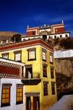 Tibetan temple. Tibet in blue sky, sichuan, china stock photos