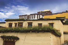Tibetan temple. This is a very Grand and spectacular tibetan temple Royalty Free Stock Photography